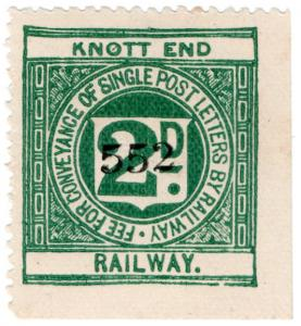 (I.B) Knott End Railway : Letter Stamp 2d