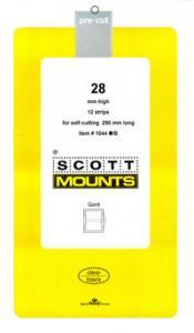 Scott Mounts Black,28 STRIP 290  mm  (pkg 12) (01044B)