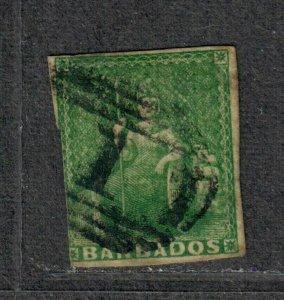 Barbados Sc#5 Used/F, Cv. $230