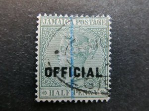 A4P21F24 Jamaica Official Stamp 1890-91 optd type II 1/2d used