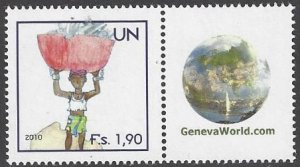 United Nations Vienna 528 MNH Child Labor Personalized Single Stamp