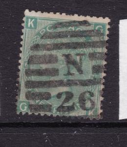 Great Britain a QV a 1/-  green plate 6 from 1867