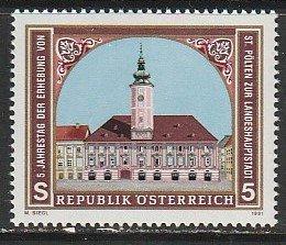 1991 Austria - Sc 1542 - MNH VF - 1 single - St Polten as Provincial Capital
