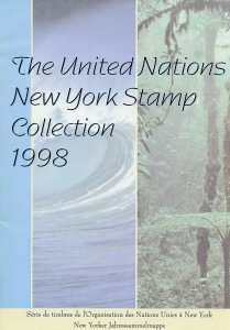 UNITED NATIONS 1998 NY COLLECTION  OFFICIAL FOLDER WITH MINT STAMPS AS ISSUE