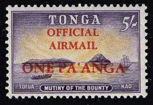 TONGA STAMP 5SH OFFICIAL AIR MAIL MH/OG STAMP