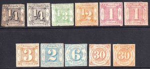 GERMANY THURN & TAXIS COLLECTION LOT OG H M/M UNUSED x11