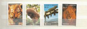 ST THOMAS AND PRINCE ISLANDS SCOTT 1237-40 MNH SCV $15