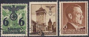 Stamp Selection Germany Poland General Gov't WWII War War AH Eagle 6pf Used