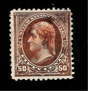 US 1895 Sc# 275 50  c Jefferson Used - Light Cancel - Crisp Copy