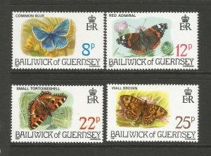 Guernsey 1981 Butterfles Set unmounted mint MNH