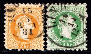 AUSTRIA STAMP 1874 -1884 Issues of Austro-Hungarian Monarchy USED STAMPS
