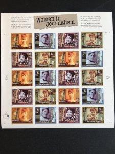 2002 sheet Women in Journalism Sc# 3665-68