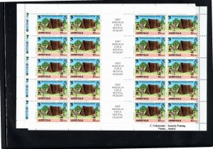 Anguilla 1982 Sc 502-5 MNH Commemorative Perforate Sheetlet of 20 with Englis...