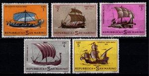 San Marino 1963 Historical Ships, Part Set [Unused]