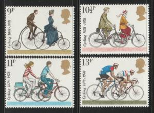 GB 1978 100th Anniv of the First International Cycling Org SG#1067-1070 S1076