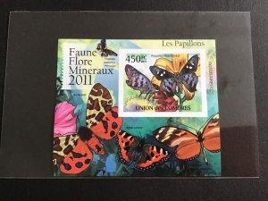 Unión des Comores 2011  Butterflies   Mini Stamp Sheet R39048