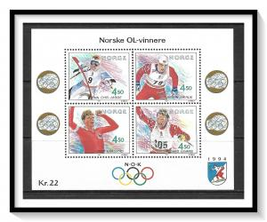 Norway #1035 Winter Olympics Souvenir Sheet MNH