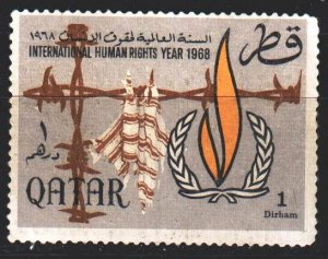 Qatar. 1968. 335 from the series. International Year of Human Rights. MVLH.