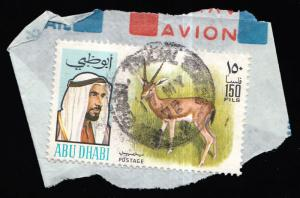 Abu Dhabi Scott 65 Used on piece.