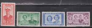 BASUTOLAND Scott # 35-8 MH - 1947 Royal Visit Set