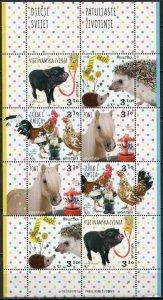 Croatia 2020. Children's World. Pets (MNH OG) Miniature Sheet