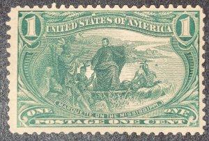 #285 – 1898 1c Trans-Mississippi Exposition.  MNH OG