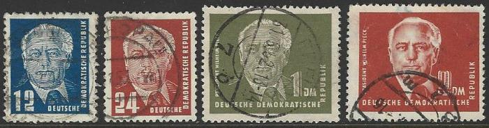 Germany DDR #54-57 Used Short Set of 4 (Missing #57A) cv $13.75