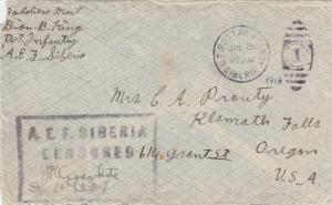 1919, AEF: Siberia to Oregon, Censored, See Remark (M2726)