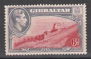GIBRALTAR 1938 KGVI MOORISH CASTLE 6D PERF 13.5