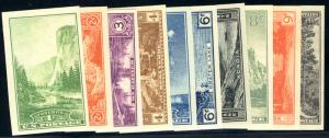 US #756 - 765 COMPLETE SET, XF-SUPERB mint never hinged,  fresh colors,  no g...