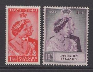 PITCAIRN ISLANDS SG11/2 1949 SILVER WEDDING MTD MINT