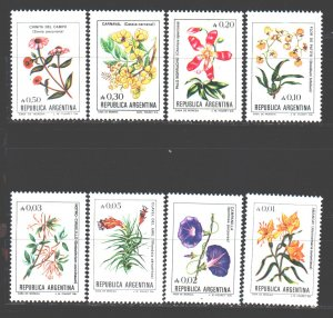 Argentina. 1985. 1749-56 from the series. Flowers, flora. MNH.