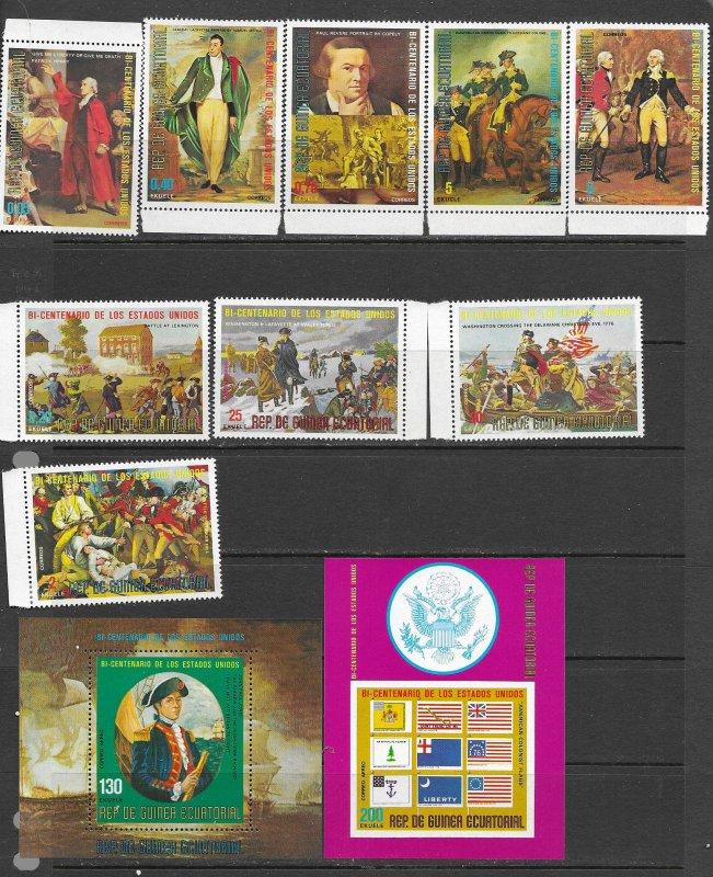 Equatorial Guinea Am. Bi Cent. set, MNH