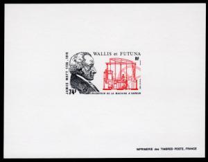 Wallis and Futuna 1986 Sc#341 James Watt Inventor Steam Engine Deluxe S/S MNH