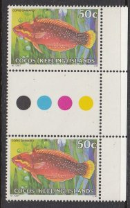Cocos Islands 46 gutter pair MNH