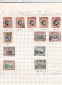 north borneo 1897 various perf  stamps ref  r8213