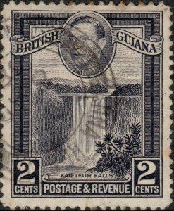 BRITISH GUIANA - 1938 -  ANNA REGINA  CDS on SG309 KGVI 2c slate-violet
