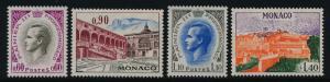 Monaco 789-92 MNH Palace of Monaco, Prince Rainier III
