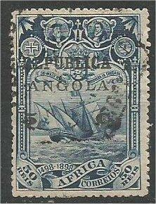 ANGOLA, 1913, used 5c on 50r Overprinted Scott 196