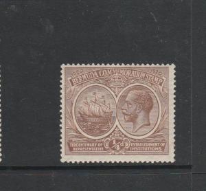 Bermuda 1920 Tercentenary 1st Issue 1/4d MM SG 59
