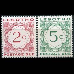 LESOTHO 1976 - Scott# J7-8 Numeral Set of 2 LH