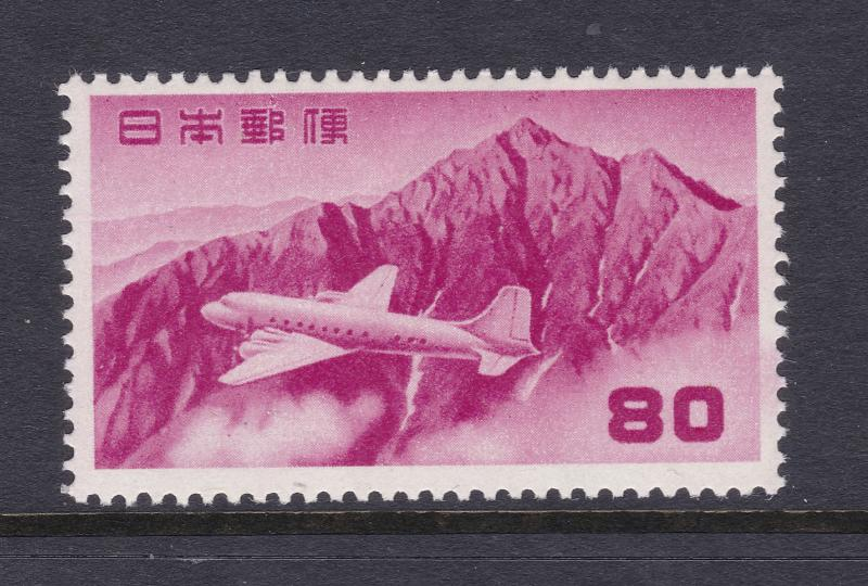 Japan the 80sen Air stamp from 1952 MNH