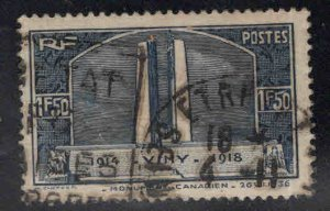 France stamp Scott 312 Used Canadian War memorial 1936 stamp