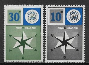 1957 Netherlands 372-3 United Europe for Peace & Prosperity C/S of 2 MNH SCV$10.