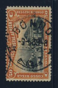 CONGO BELGE / BELGIAN CONGO - 1939 - BONDO CAD ROND NOIR (T.8) sur COB PA1