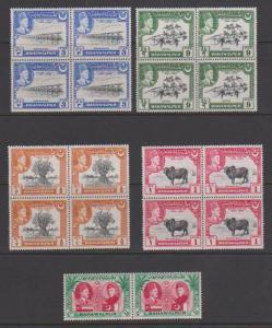 Bahawalpur  Silver Jubilee & UPU in Blocks of 4, etc Mint