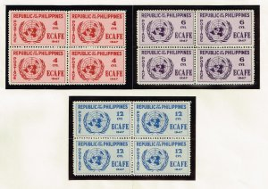 Philippines Stamp  1947 Conference Issue 6-12c MNH/OG stamp BLK OF 4  SET