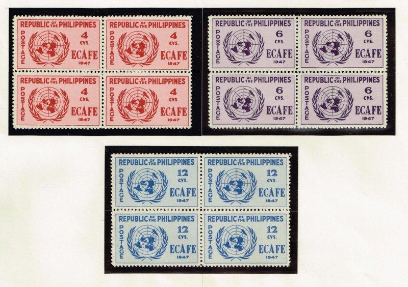 Philippines Stamp  1947 Conference Issue 6-12c MNH/OG stamp BLK OF 4  SET