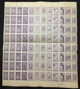 ESPERANTO Poster Labels Cinderellas War Sheet of 96 MNH (W 1612