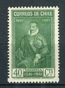 CHILE; 1941 Santiago Anniversary issue fine Mint hinged 40c. value